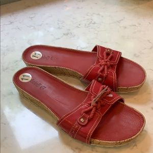 Timberland red sandals 11M